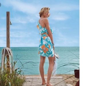 Lilly Pulitzer Kendall Do The Wave Silk Dr…